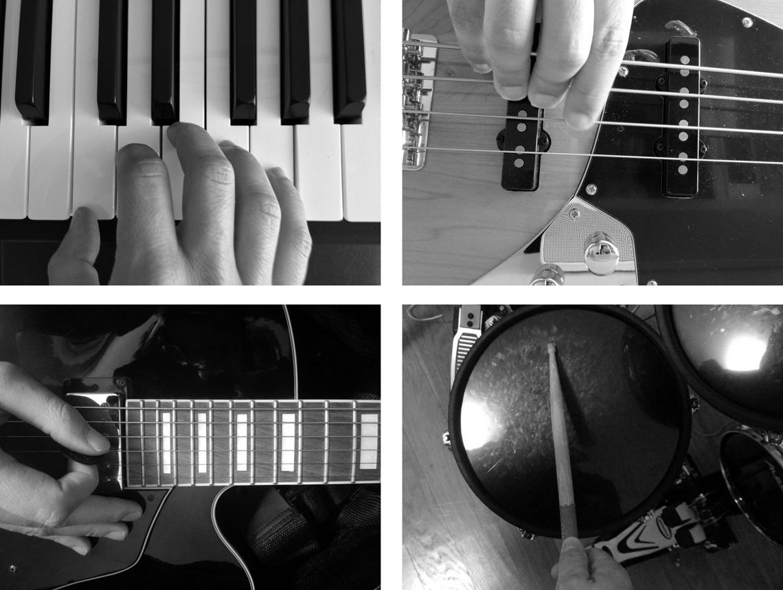 Urbanature: sintetizadores, baixo, guitarra e bateria